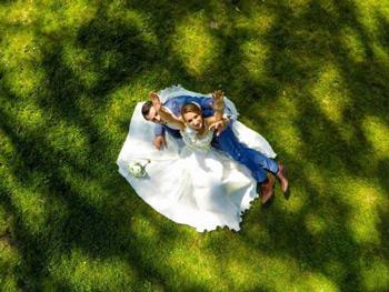 vestuviu filmavimas is oro